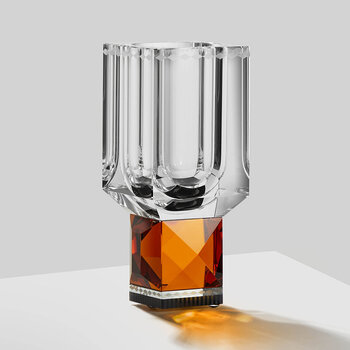 Ohio Crystal Vase - Orange