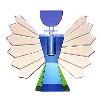Rochester Crystal Perfume Flacon - Blue/Pink