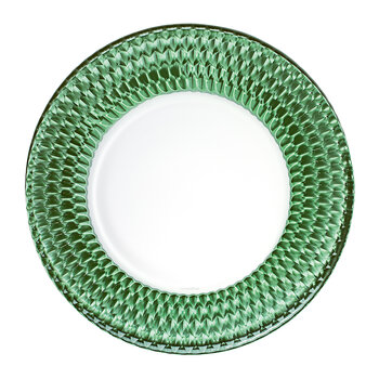 Boston Coloured Buffet Plate - Green