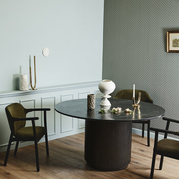 Erie Round Dinning Table - Black Marble