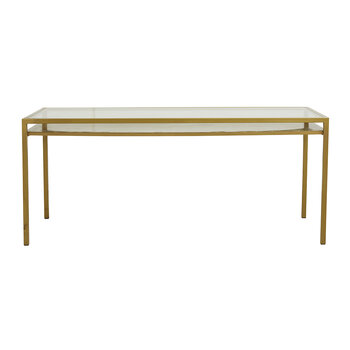 Etne Dinner Table - Golden/Clear Glass