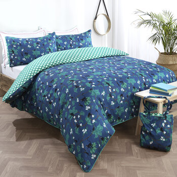 Monkeys Navy Duvet Set