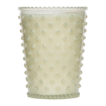 Simpatico Hobnail Glass Candle - White Flower