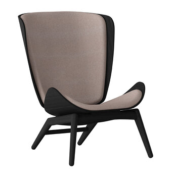 The Reader Chair - Black - Dusty Rose