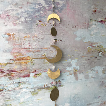Moon Phase Wall Hanging - Gold