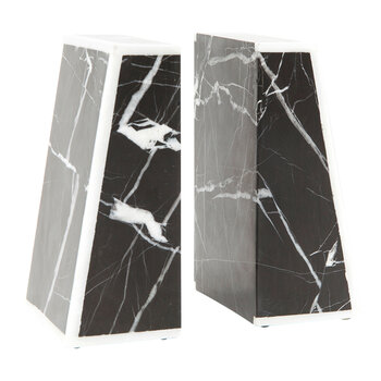Griffen Marble Bookends - Black/White