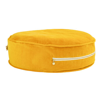 Pouf Rond - Moutarde Velours