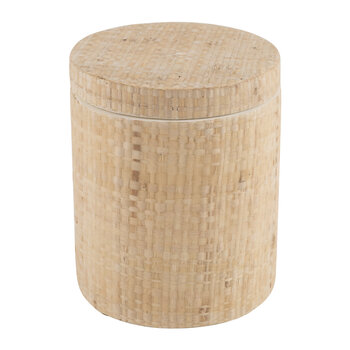 Ghent Canister - Natural Raffia