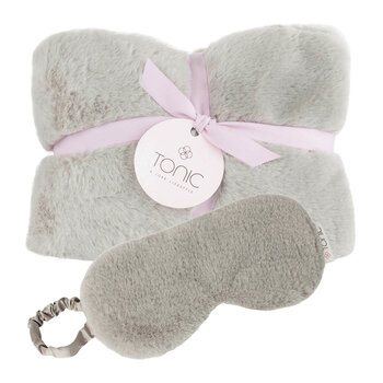 Deluxe Heat Pillow & Eye Mask Set - Smokey Grey
