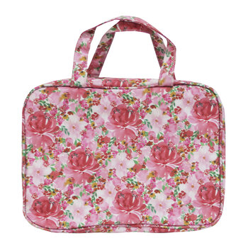 Hanging Cosmetic Bag - Flourish Pink