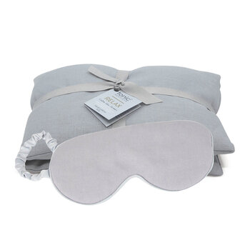 Luxe Linen Heat Pillow & Eye Mask Set - Relax Dove