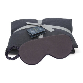 Luxe Linen Heat Pillow & Eye Mask Set - Revive Charcoal
