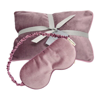 Luxe Velvet Heat Pillow & Eye Mask Set - Musk
