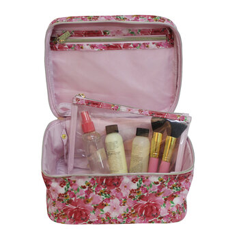 Make Up Case - Flourish Pink