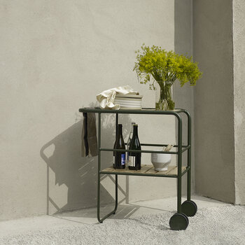 Fuori Serving Trolley - Hunter Green