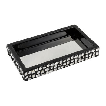 Swarovski Budapest Tray with Mirror - Ebony