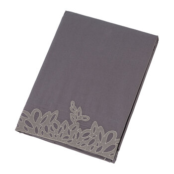 Wallis Flat Sheet - Charcoal/Silver