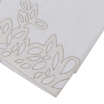 Wallis Flat Sheet - White/Silver