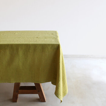 Pure Washed Linen Tablecloth - 180x300cm - Lime