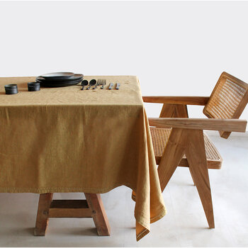 Pure Washed Linen Tablecloth - 180x300cm - Ocher