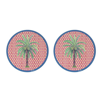 Palm Tree Placemat - Set Of 2 - Red