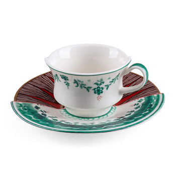 Hybrid Chucuito Coffee Cup & Saucer - White/Green