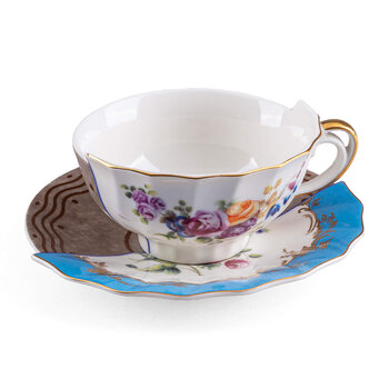 Hybrid Kerma Teacup & Saucer - Blue/White