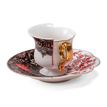 Hybrid Sagala Coffee Cup & Saucer - White/Blue