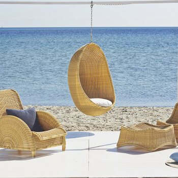 Hanging Outdoor Rattan Egg Chair - Natural