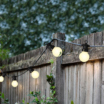 Outdoor Bulb Party Lights - Black
