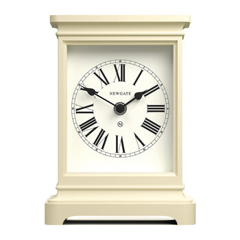 Time Lord Mantel Clock - White