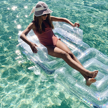 Inflatable Lilo Chair - Glitter - Holographic