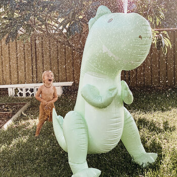 Inflatable Surfing Dino Giant Sprinkler - Ice Mint
