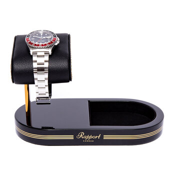 Watch Stand with Tray - Black/Gold
