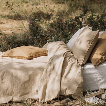 Pure Washed Cotton Quilt Cover - Sand