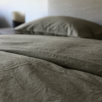 Pure Washed Cotton Duvet Cover - Stone