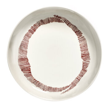 Feast High Plate - Set of 2 - Red Swirl
