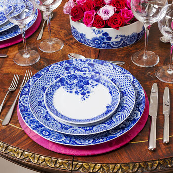 Blue Ming Bread and Butter Plate - Blue/White