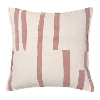 Lyme Grass Cotton Cushion - Red