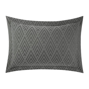 Penthouse Clay Oxford Pillowcase - Charcoal