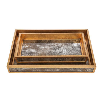 Atwater Tray Set - Antiqued Gold