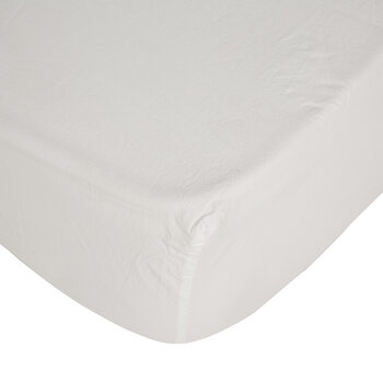 Pure Washed Cotton Fitted Sheet - Ivory