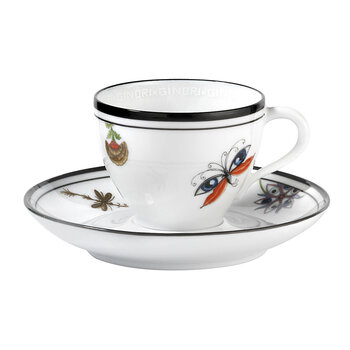 Arcadia Coffee Cup And Saucer - Set of 2 - White