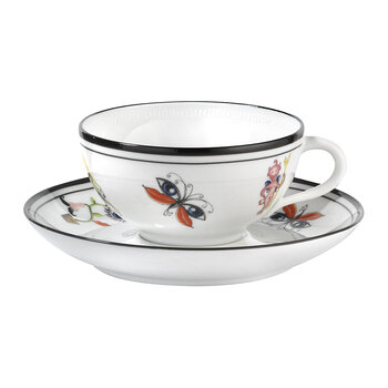 Arcadia Teacup And Saucer - Set of 2 - White