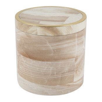 Palermo II Faux Clamstone Round Canister - Pink