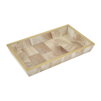 Palermo II Faux Clamstone Tray - Pink