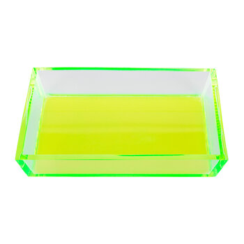 Monette Acrylic Soap Dish - Clear/Chartreuse