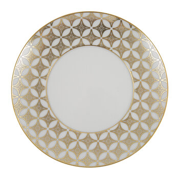 Gold Exotic Bread & Butter Plate - Gold/White