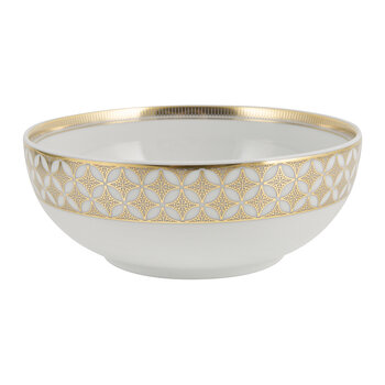 Gold Exotic Cereal Bowl - Gold/White