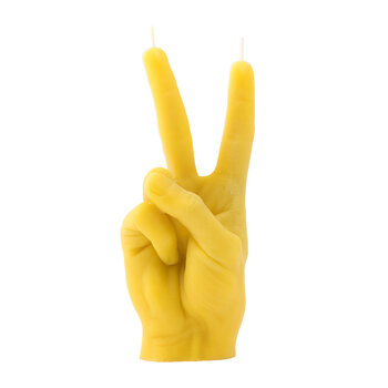 'Victory' Candle - Yellow
